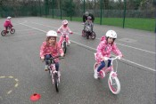 Children improving their cycling at one of our popular beginner BikeKlubz sessions