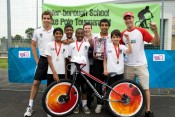 Proud winners of our annual schools Bike Polo Tournament